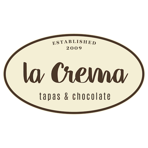 La Crema-Tapas and Chocolate logo.
