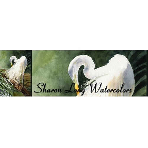 Sharon Long Watercolors logo.