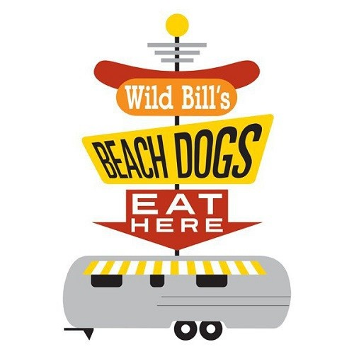 Wild Bill's Beach Dogs logo.
