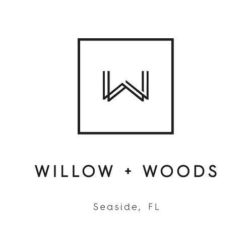 Willow + Woods logo.