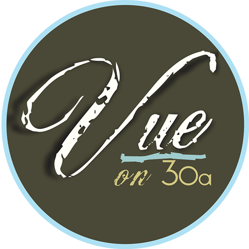 Vue on 30A logo.