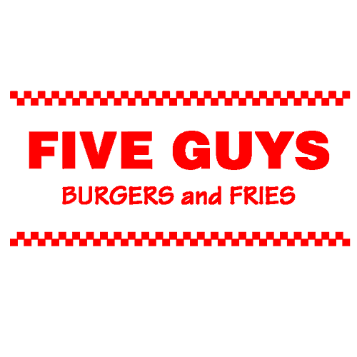 Five Guys Burgers and Fries logo.