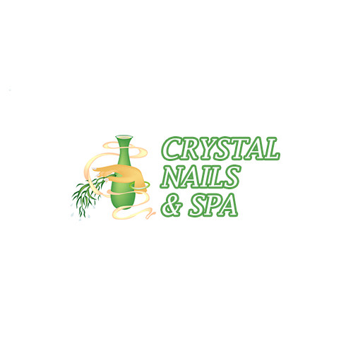 Crystal Nails & Spa logo.