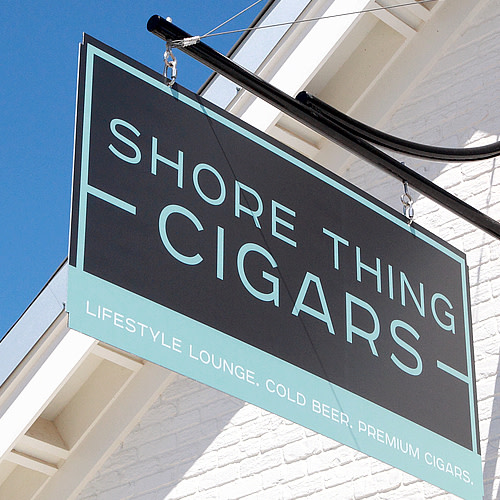 Shore Thing Cigars logo.