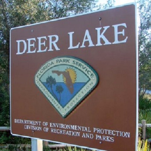 Deer Lake State Park logo.