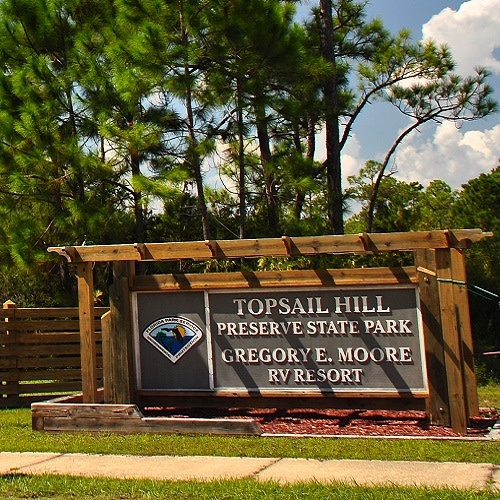 Topsail Hill Preserve State Park logo.