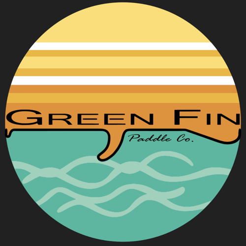 Green Fin Paddle Co. logo.