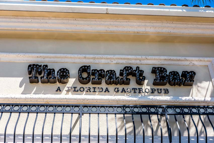 Exterior of The Craft Bar in Sandestin