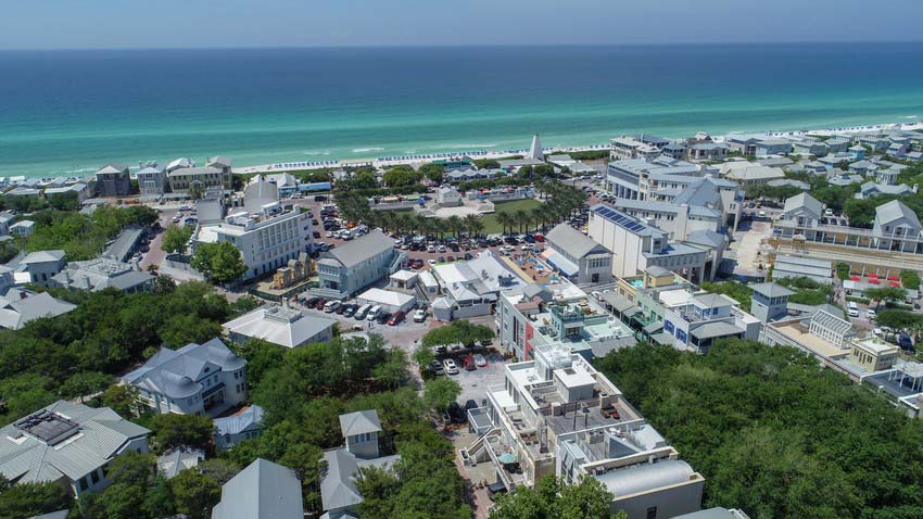 Aerial View of South Walton, Florida