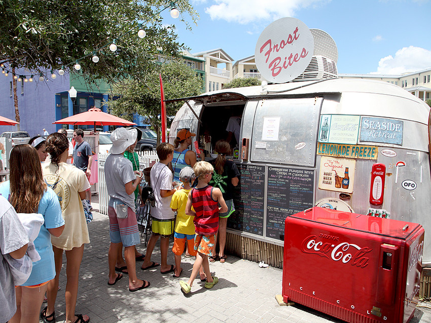 Frost Bites ice cream stand at Airstream Row