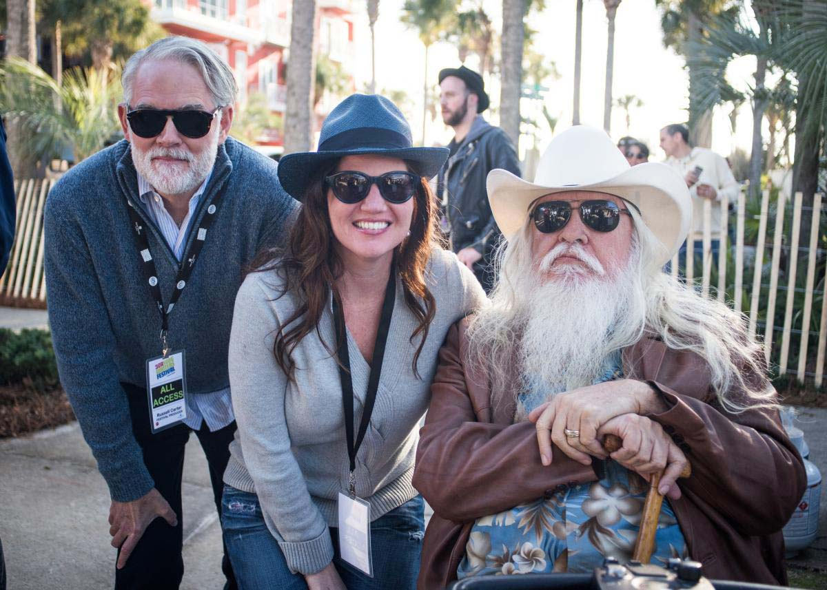 Russell Carter and Jennifer Steele with songwriter Leon Russell