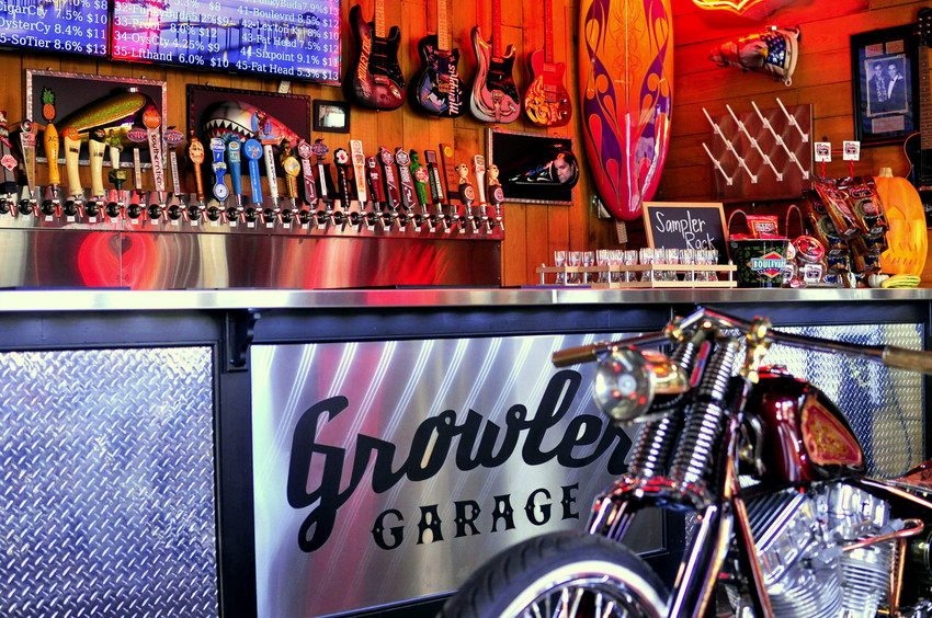 Bar at Growler Garage in Santa Rosa Beach