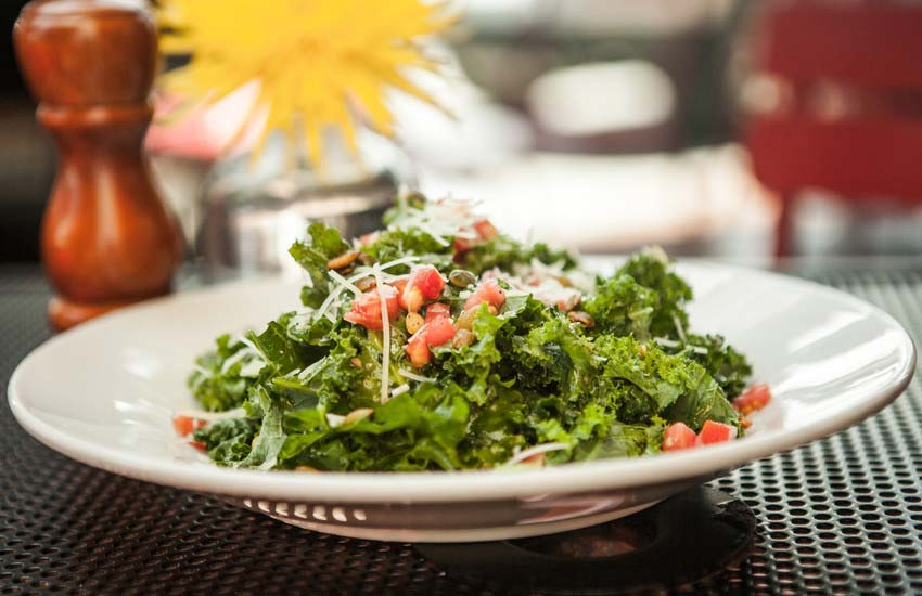 Kale Salad at Summer Kitchen Cafe